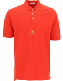 BEL-AIR ATHLETICS ACADEMY CREST POLO SHIRT S Red, Yellow Cotton