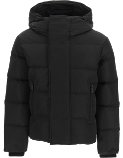 DSQUARED2 DOWN JACKET WITH RUBBER LOGO 48 Black Technical