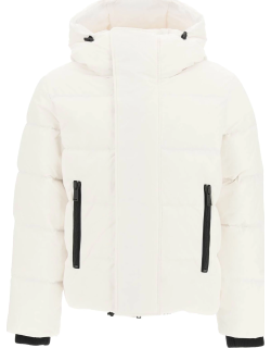 DSQUARED2 DOWN JACKET WITH RUBBER LOGO 46 White Technical