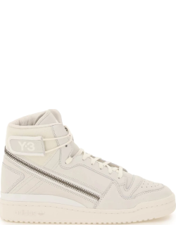 Y-3 FORUM HI OG HIGH SNEAKERS 5 White Leather