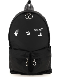 OFF-WHITE NYLON BACKPACK WITH LOGO OS Black Technical