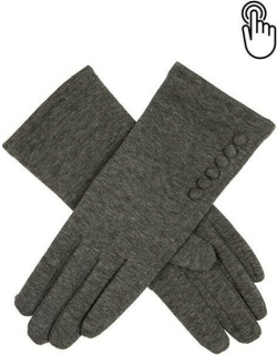 Dents Women's Longer Length Touchscreen Thermal Gloves In Charcoal