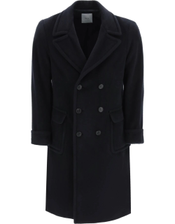 GM77 WOOL AND MOHAIR COAT 48 Blue Wool