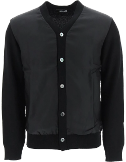 COMME DES GARCONS HOMME PLUS WOOL AND CUPRO CARDIGAN S Black Wool