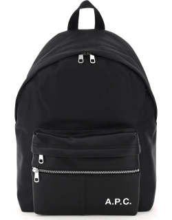 A.P.C. CAMDEN FAUX LEATHER AND NYLON BACKPACK OS Black Technical, Faux leather