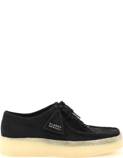 CLARKS WALLABEE CUP LACE-UP SHOES 6,5 Black Leather