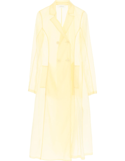 SPORTMAX MARCHE TRENCH COAT 44 Yellow Technical