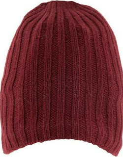 Dents Men's Lambswool Blend Knitted Hat In Burgundy