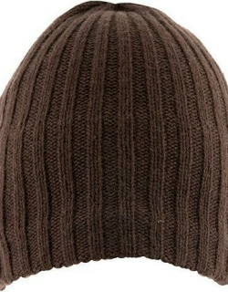 Dents Men's Lambswool Blend Knitted Hat In Chocolate