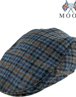 Dents Men's Abraham Moon Dogtooth Flat Cap In Airforce