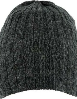 Dents Men's Lambswool Blend Knitted Hat In Charcoal