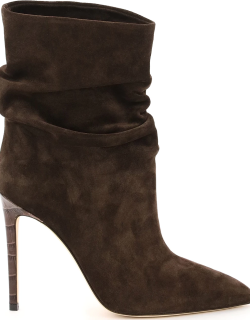 PARIS TEXAS SLOUCHY SUEDE BOOTS 39 Brown Leather