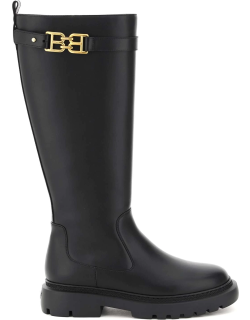 BALLY GAILA LEATHER BOOTS 38 Black Leather