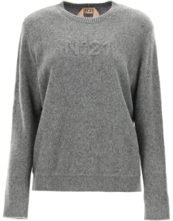 N.21 PULLOVER WITH LOGO 38 Grey Wool