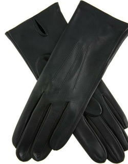 Dents Women's Classic Unlined Leather Gloves In Black
