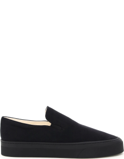 THE ROW MARIE H CANVAS SLIP-ON SNEAKERS 38 Black Technical