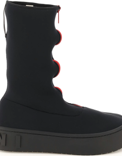 MARNI ZIPPED BOOTS 37 Black, Red Technical