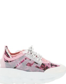 VERSACE CHAIN REACTION SNEAKERS 38 Pink Technical