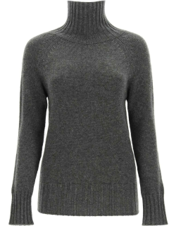 'S MAX MARA WOOL AND CACHEMIRE BLEND TURTLENECK SWEATER M Grey Wool