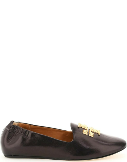 TORY BURCH ELEANOR LOAFERS 8 Black Leather