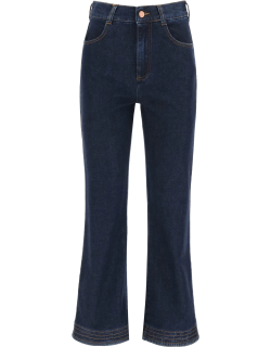 SEE BY CHLOE FLARED JEANS 26 Blue Cotton, Denim