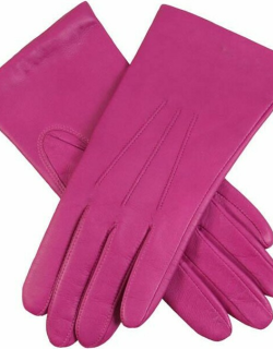 Dents Women's Classic Leather Gloves In Hot Pink