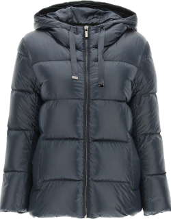 MAX MARA THE CUBE SPACEY HOODED JACKET 44 Blue Technical