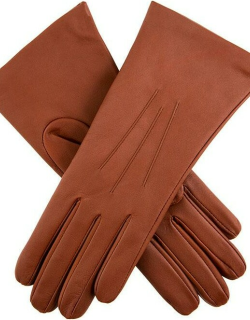 Dents Women's Cashmere Lined Leather Gloves In Cognac