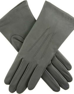 Dents Women's Cashmere Lined Leather Gloves In Charcoal