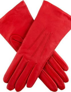 Dents Women's Cashmere Lined Leather Gloves In Berry
