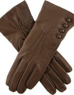 Dents Women's Cashmere Lined Leather Gloves In Mocca (Natural)