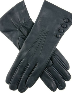 Dents Women's Cashmere Lined Leather Gloves In Navy (Red)