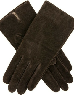 Dents Women's Suede Gloves In Mocca