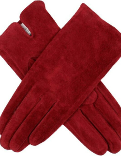 Dents Women's Suede Gloves In Berry