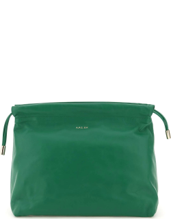 A.P.C. SUZANNE KOLLER x A.P.C. CLUTCH OS Green Leather