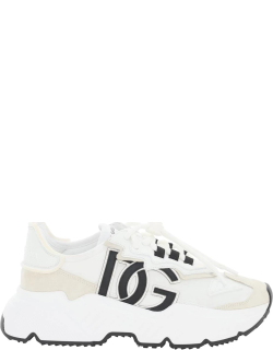 DOLCE & GABBANA DAYMASTER SNEAKERS 35 White, Beige Technical