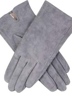 Dents Women's Suede Gloves In Charcoal