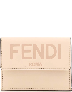 FENDI TRI-FOLD LEATHER WALLET OS Pink Leather