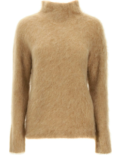 MAX MARA MOHAIR AND WOOL SWEATER M Brown Wool