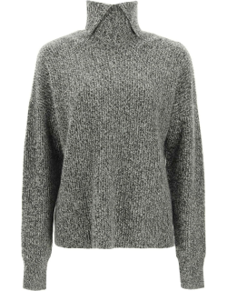 SPORTMAX GIULIA WOOL AND CASHMERE SWEATER S Grey Cashmere, Wool