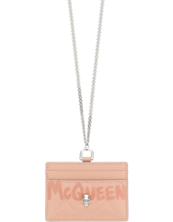 ALEXANDER MCQUEEN CARDHOLDER WITH CHAIN OS Pink Leather
