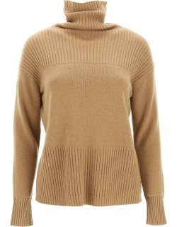 MAX MARA STUDIO MORITZ SWEATER IN WOOL AND CASHMERE XS Brown Wool, Cashmere