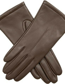 Dents Women's Single Point Leather Gloves In Chestnut