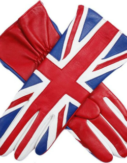 Dents Women's Union Jack Gloves In Red/multi