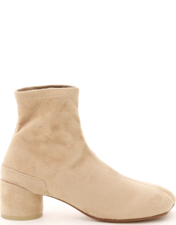 MM6 MAISON MARGIELA SUEDE FABRIC ANKLE BOOTS 36 Brown