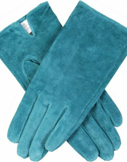 Dents Women's Suede Gloves In Teal