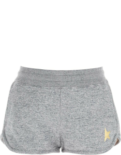 GOLDEN GOOSE DIANA SHORTS WITH GOLDEN STAR S Grey Cotton