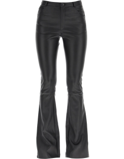 DROME FLARED TROUSERS IN PLONGÉ NAPPA M Black Leather