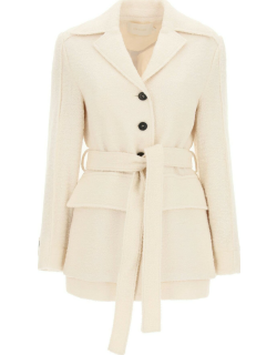 LOW CLASSIC WOOL AND MOHAIR BLAZER S White, Beige Wool