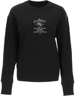 GIVENCHY SWEATSHIRT WITH GIVENCHY MMW LOGO S Black, White Cotton
